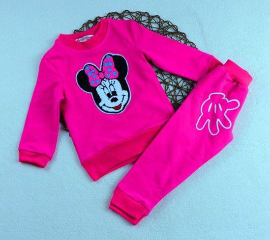 Conjunto de Blusa e Calça da Minnie - Rosa