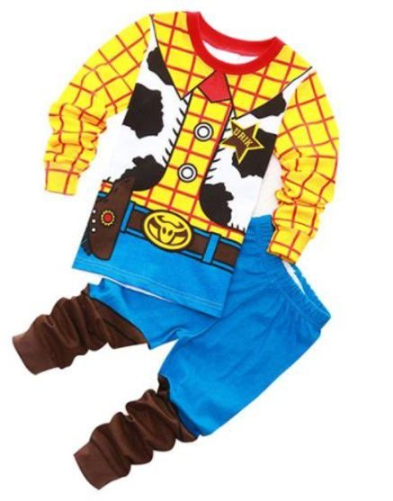 Pijama do Woody - Toy Story - Amarelo e Azul