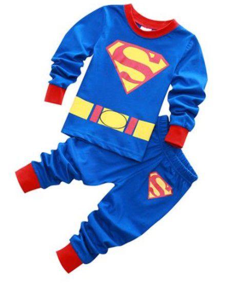 Pijama do Superman - Azul e Vermelho