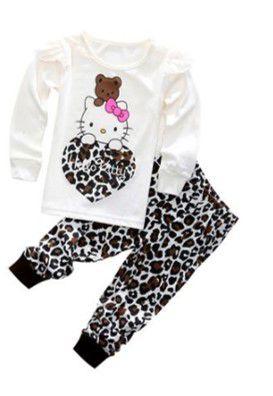 Pijama da Hello Kitty - Tigrado Marrom