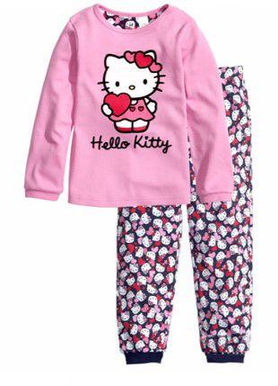 Pijama da Hello Kitty - Rosa e Azul Marinho