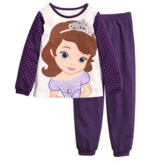 Pijama da Princesa Sofia - Branco e Roxo
