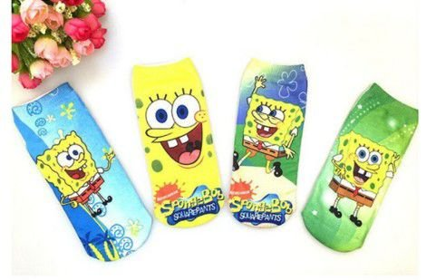 Kit de Meias do Bob Esponja