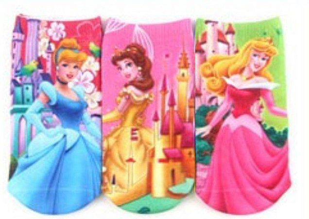 Kit de Meias das Princesas da Disney