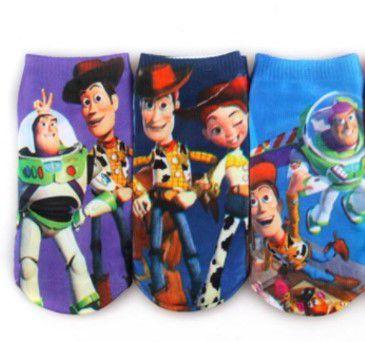 Kit de Meias do Toy Story (Opção 1)