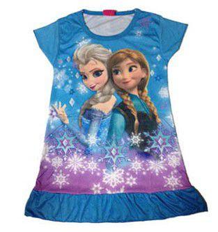 Vestido da Frozen - Azul