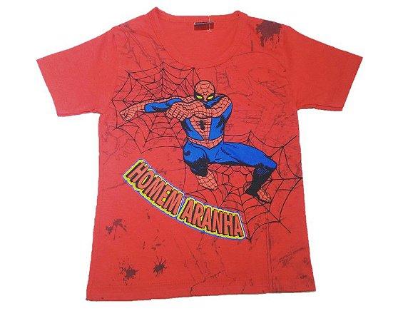 Camiseta do  Homem Aranha - Vermelha
