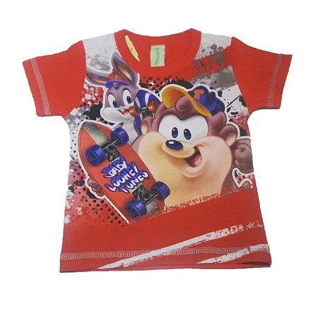 Camiseta Looney Tunes - Vermelha - Romitex