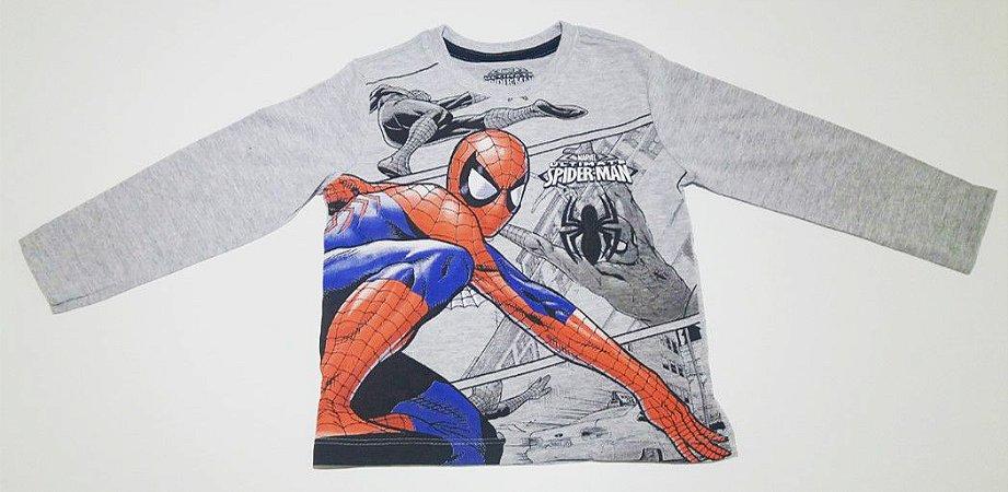 Camiseta do Homem Aranha - Cinza