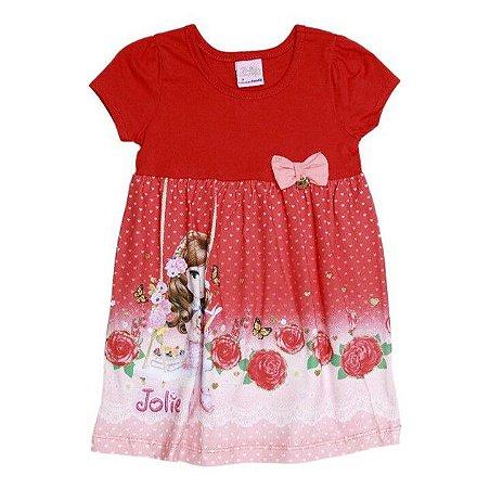 Vestido da Jolie - Vermelho Violeta - Brandili
