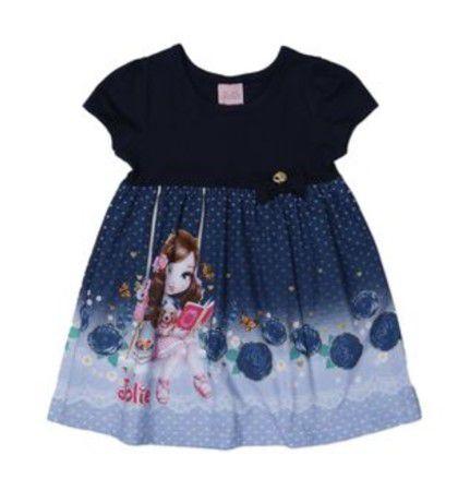 Vestido da Jolie - Azul Marinho - Brandili