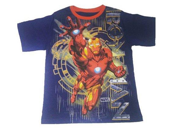 Camiseta do Homem de Ferro - Azul