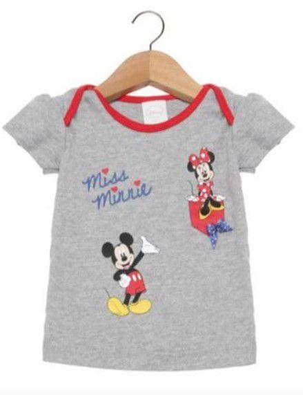 Blusa Bebê Minnie e Mickey Cinza - Disney by Tricae
