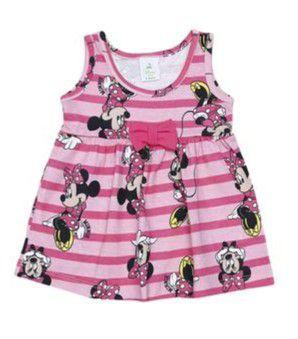 Vestido da Minnie - Laços - Rosa e Rosa Claro - Brandili