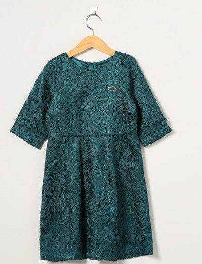 Vestido Infantil Renda - Verde Escuro - Lilica Ripilica