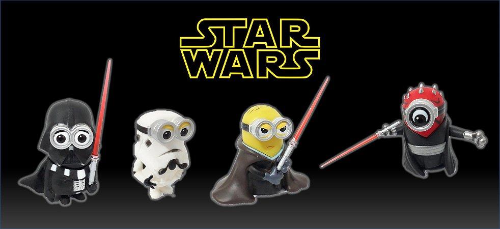 Conjunto de Bonecos Minions Star Wars