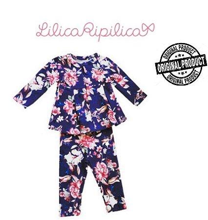Conjunto de Casaco e Legging Floral-  Lilica Ripilica Baby - Estampado Floral