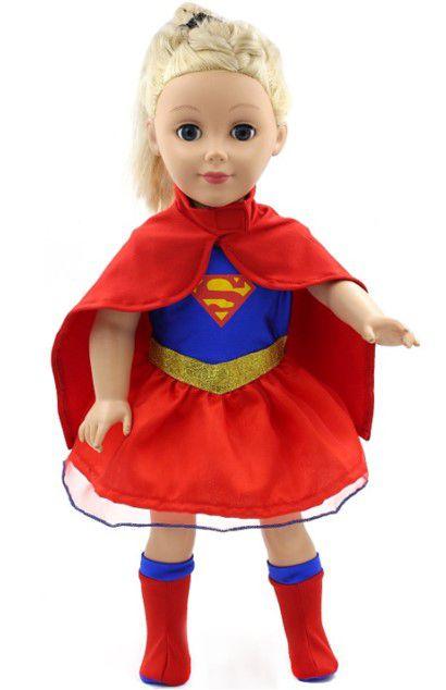 Roupa de Boneca da Supergirl