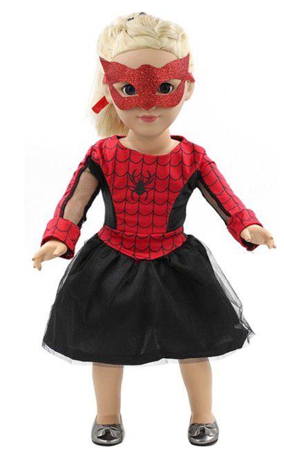 Roupa de Boneca da Mulher Aranha