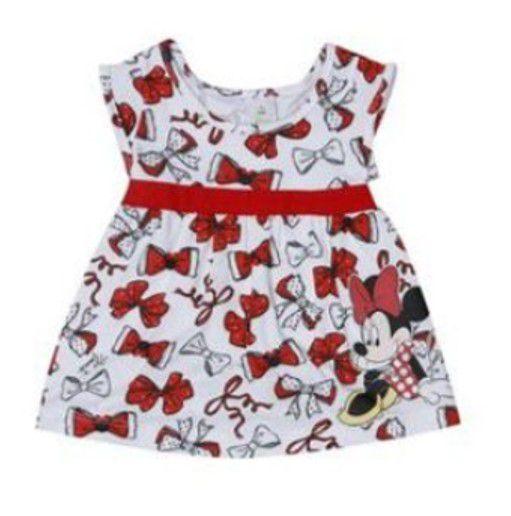 92f0bbc7821 Vestido Bebê da Minnie Cor Branco e Vermelho - AmoPersonagem