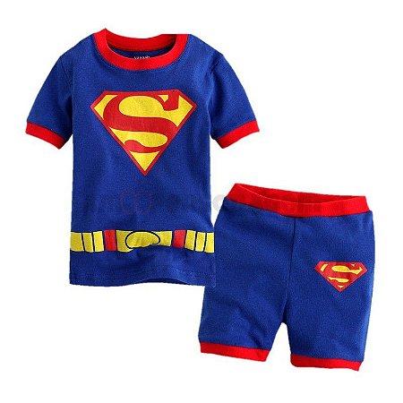 Pijama do Superman - Vermelho e Azul