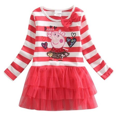 Vestido Infantil Peppa Pig - Tule Vermelho