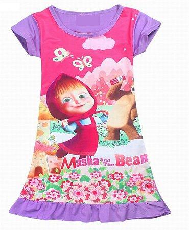 Vestido da Masha e Urso - Lilás