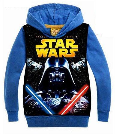 Moleton Infantil do Star Wars - Azul