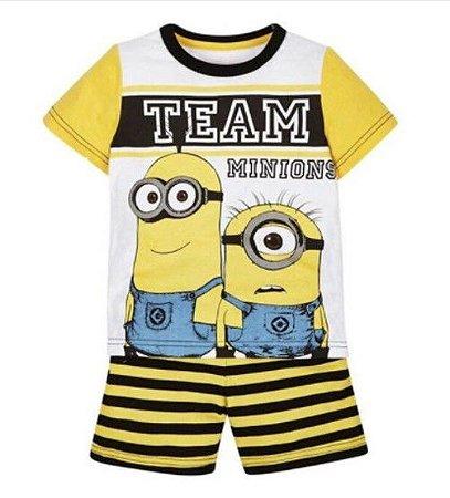 Pijama dos Minions - Listrado Amarelo e Preto