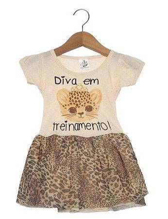 Vestido Infantil Diva - Bege