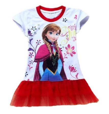 f7da855b2 Vestido Bebê da Anna - Frozen - Tule Vermelho