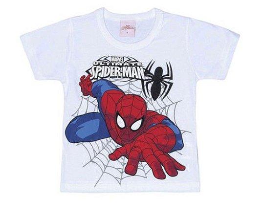 Camiseta do  Homem Aranha - Branca - Brilha no Escuro - Brandili