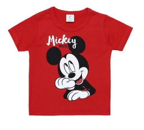 Camiseta Baby do Mickey - Vermelha - Brandili