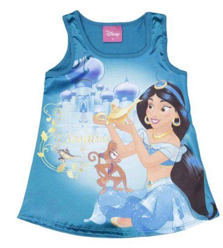 Blusa Acetinada Princesa Jasmine - Disney - Brandili