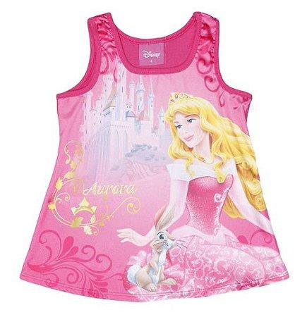 Blusa Acetinada Princesa Aurora - Rosa - Disney - Brandili
