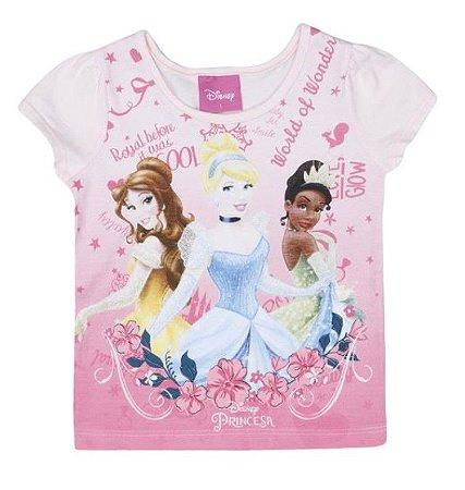 Blusa Bebê Menina Princesas Disney Rosa Claro - Brandili