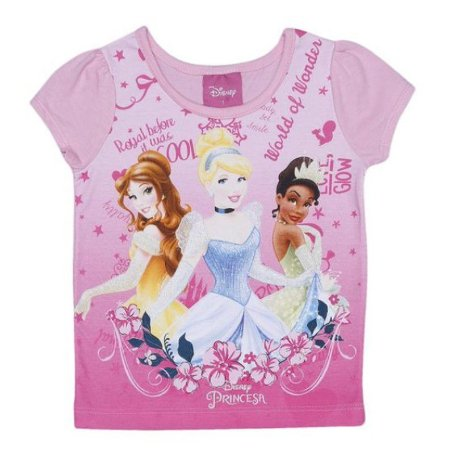 Blusa Princesas Disney Pink e Azul - Brandili