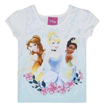 Blusa Infantil Princesas Disney - Off White - Brandili