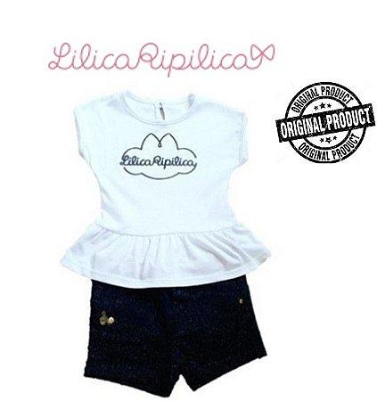 Conjunto de Blusa e Short - Lilica Ripilica Baby - Preto e Branco