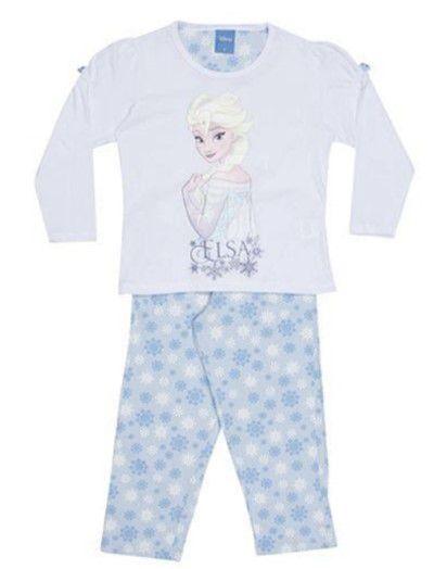 Pijama Elsa -Disney Princess - Branco e Azul Claro - Lupo