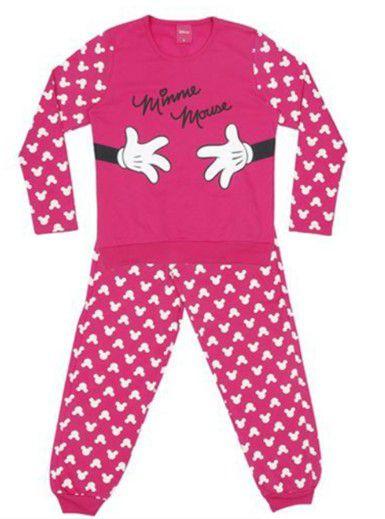 6c1168a5e9bbc4 Pijama Forrado da Minnie - Pink e Branco - Lupo