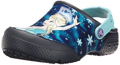 Crocs Fun Lab Frozen - Preto e Azul Claro