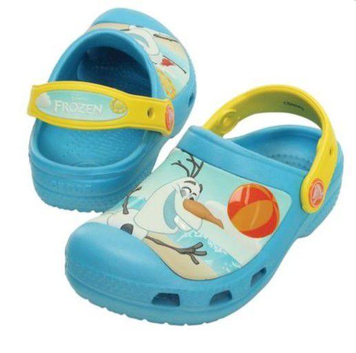 Crocs do Olaf - Frozen - Azul Claro e Amarelo