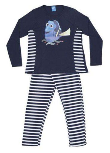 Pijama Dory Listrado - Azul Marinho e Branco - Lupo