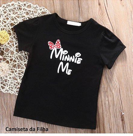 Blusa Infantil Minnie Preta