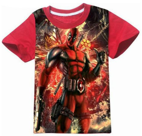 1cd1f3084 Camiseta Infantil Deadpool - AmoPersonagem