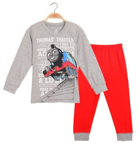 Pijama do Thomas Trem - Cinza e Vermelho