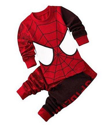 Pijama do Homem Aranha - Vermelho e Marrom