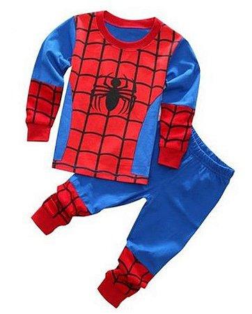 Pijama do Homem Aranha - Teia - Azul e Vermelho