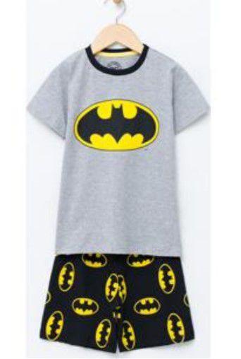 Pijama do Batman - Cinza e Preto